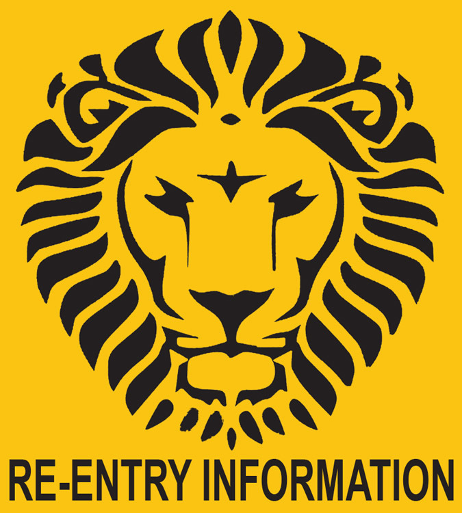 "Image of ASBVI Lion Head and ""Re-Entry Information"" Logo"