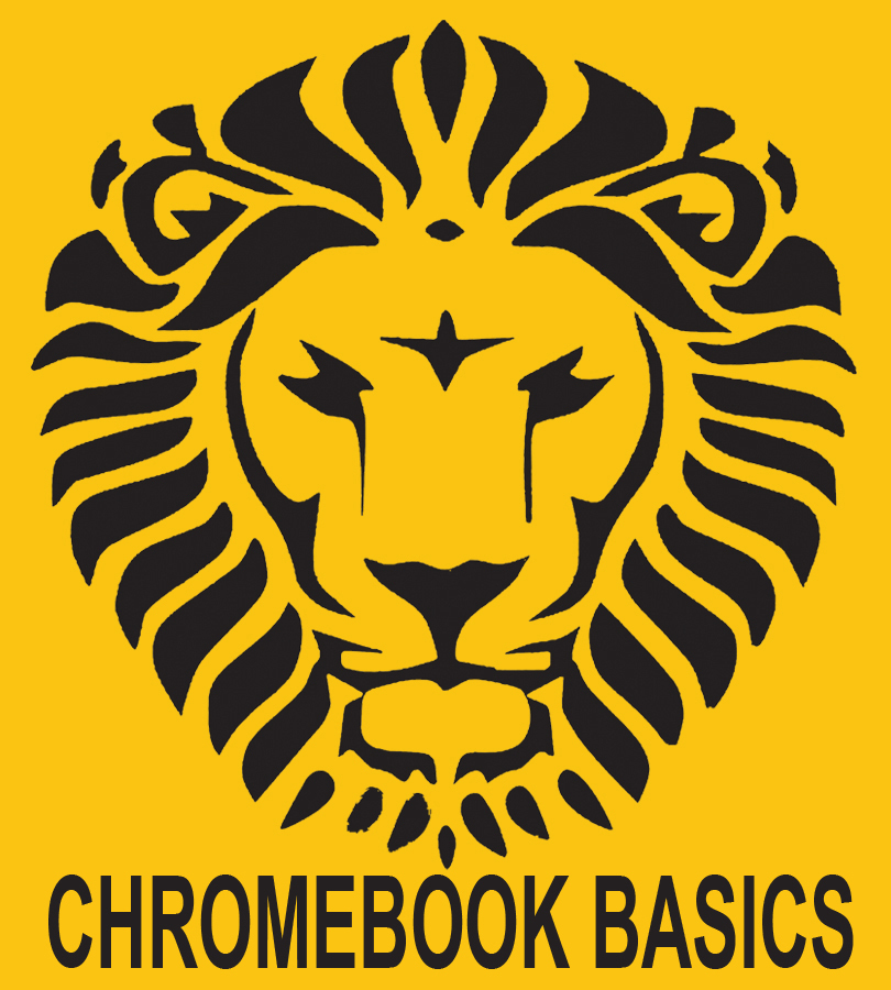 Photo of Chromebook Basics Logo with Lion Head