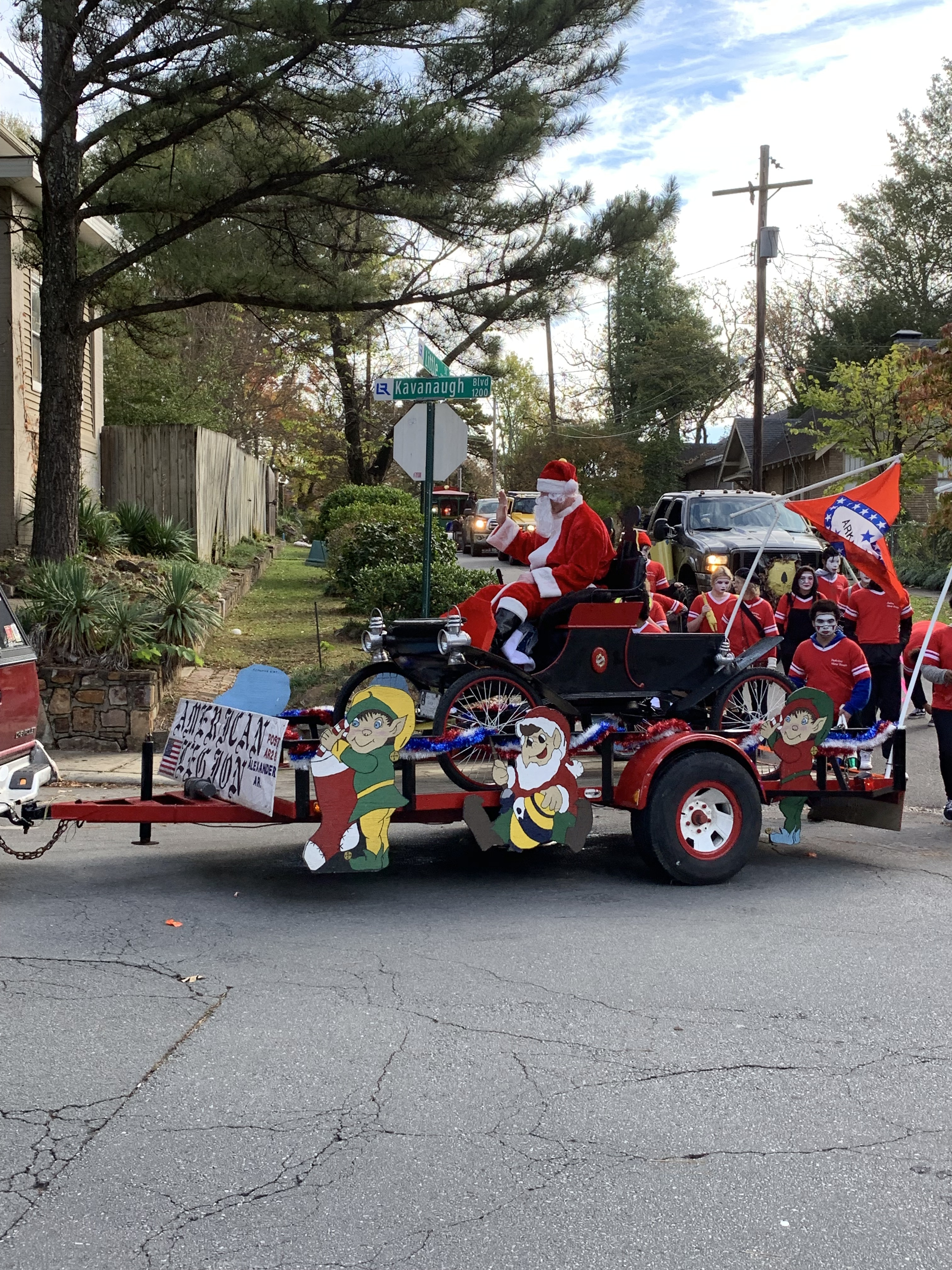 Photo of Santa in an antique car waving to the crowd during our Annual Fall Parade.