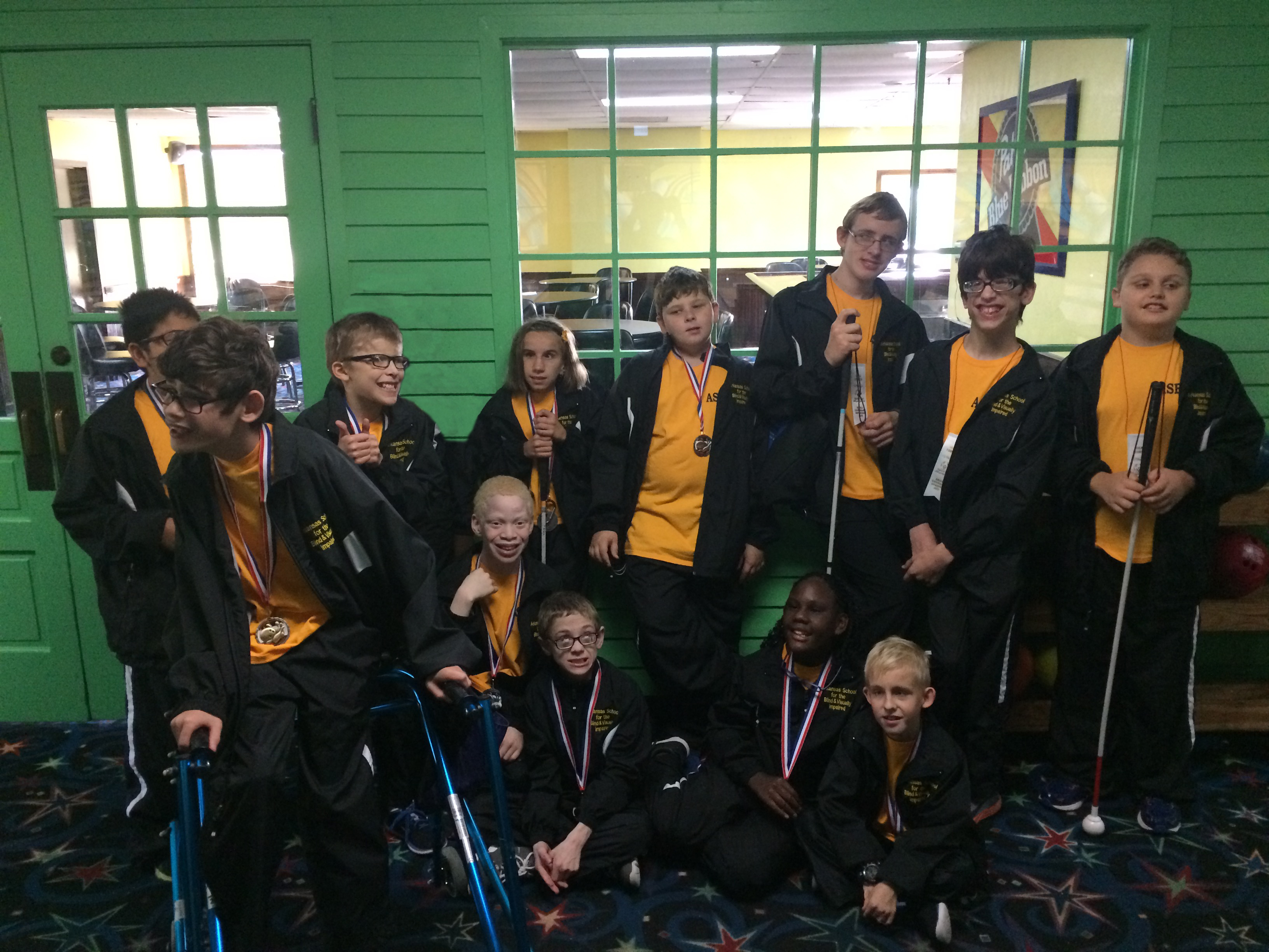 Photo of the 2018 ASBVI Special Olympics Bowling Team